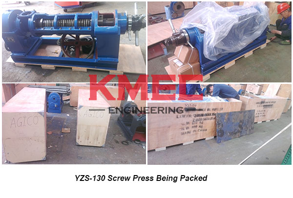 YZS-130 press being packed
