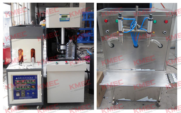 bottle blowing machine and oil filling machine
