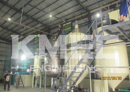 coconut oil refining plant workshop view