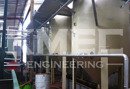 Photos of new workshop of coconut oil refining plant