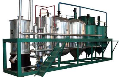 corn germ oil expelling and refining line