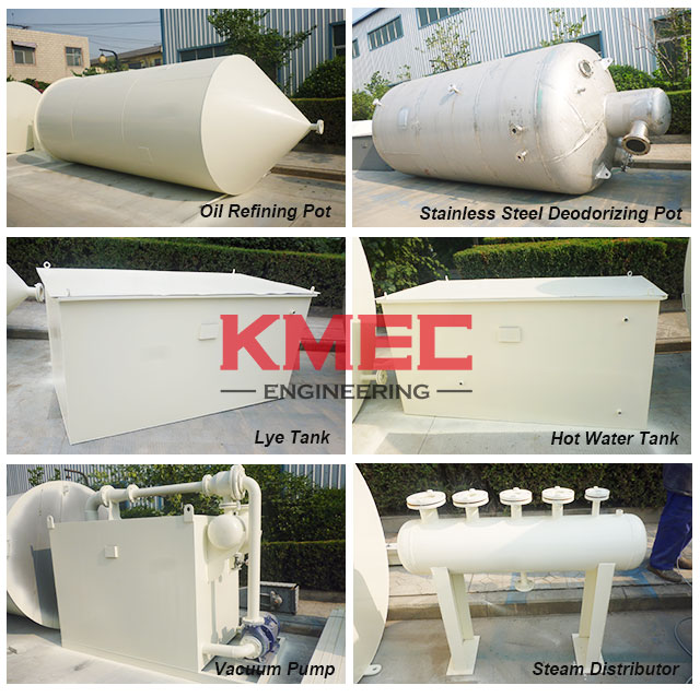 cottonseed refining and fractionation equipments