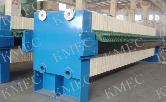 plate and frame type filter press used in oil mills