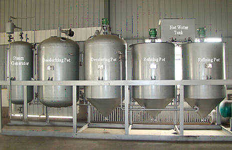 soya bean oil extraction and refining unit