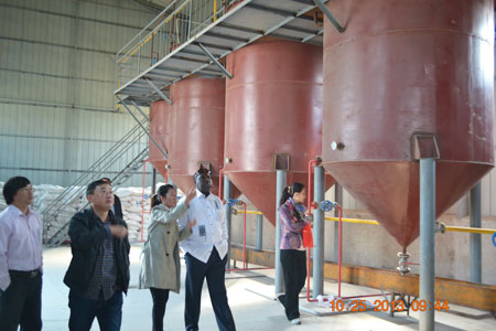visiting the   peanut oil factory we help setup in Neihuang