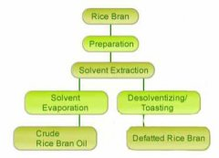 manufacturing process of rice bran oil