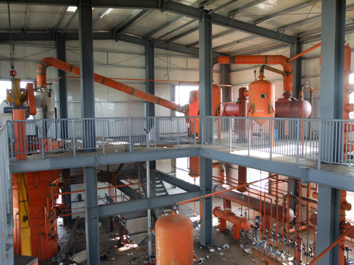 continuous oil refinery machinery